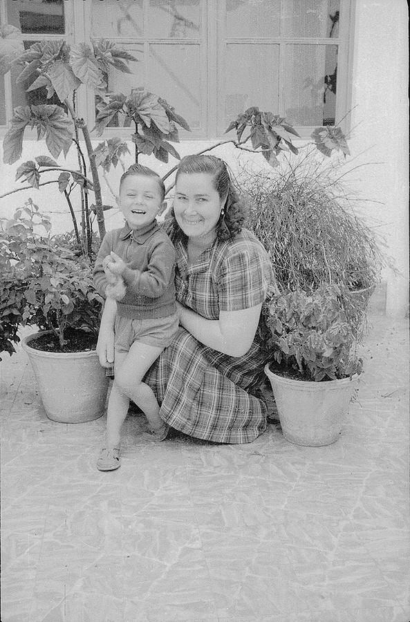 Domitila Barreto e hijo