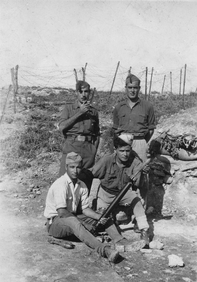 Lanzaroteños en el Frente de Aragón