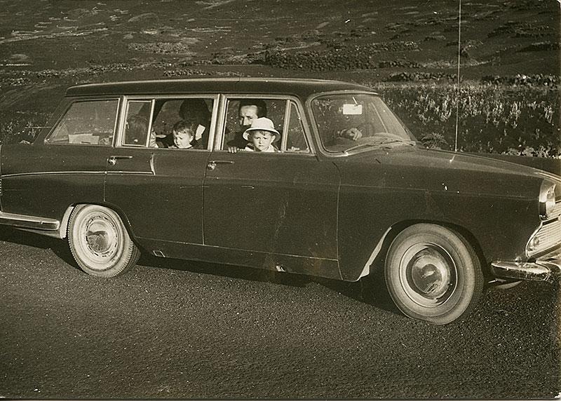 Retrato en coche