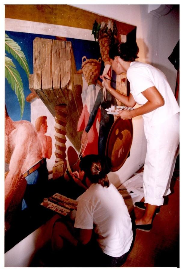 Restauración de los murales del Parador