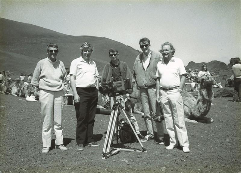 Miembros de la BBC en las Montañas del Fuego