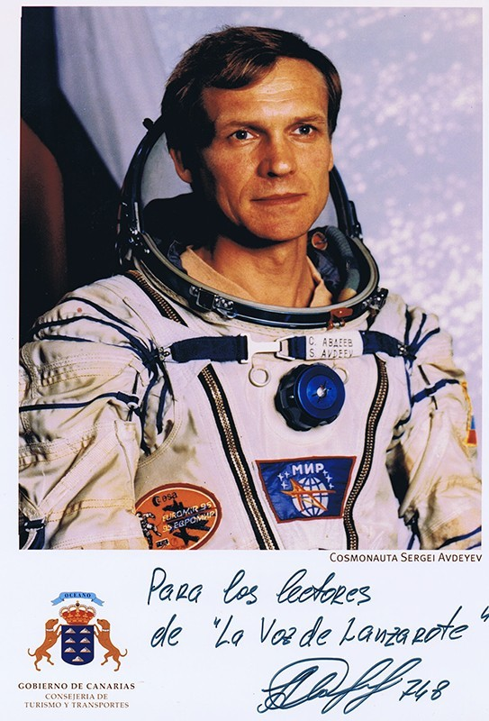 Visita del cosmonauta Serguéi Avdéyev a Lanzarote IV