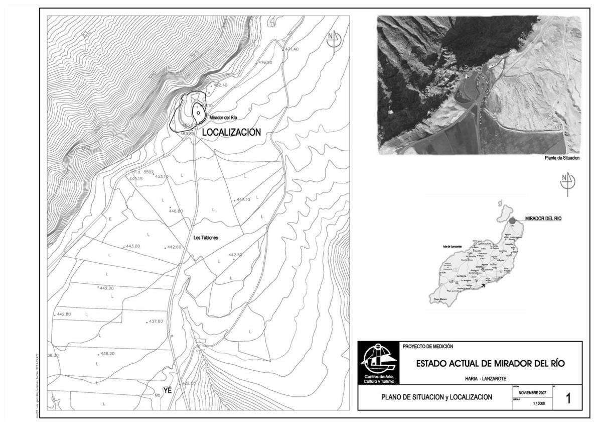 Localización del Mirador del Río
