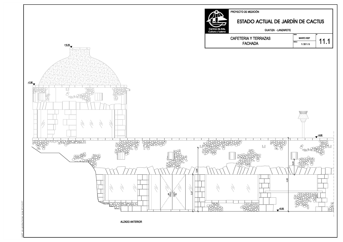 Cafeteria y terrazas del Jardín de Cactus II