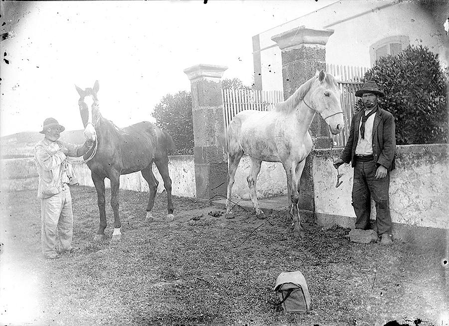 Hombres con los caballos
