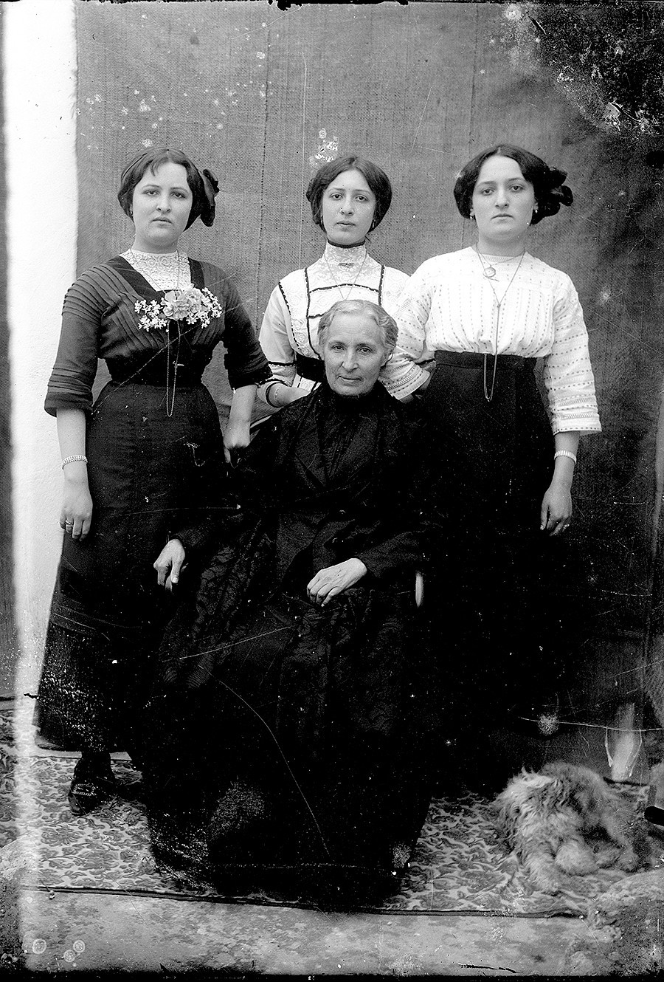 Margarita Martín e hijas