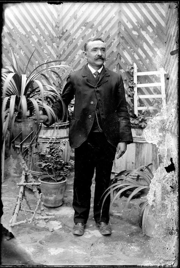 Hombre con plantas