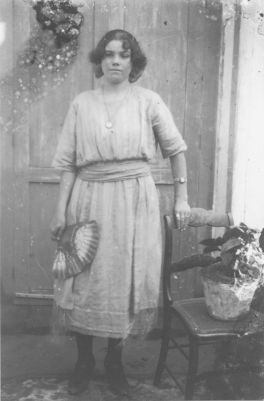 Mujer con el abanico
