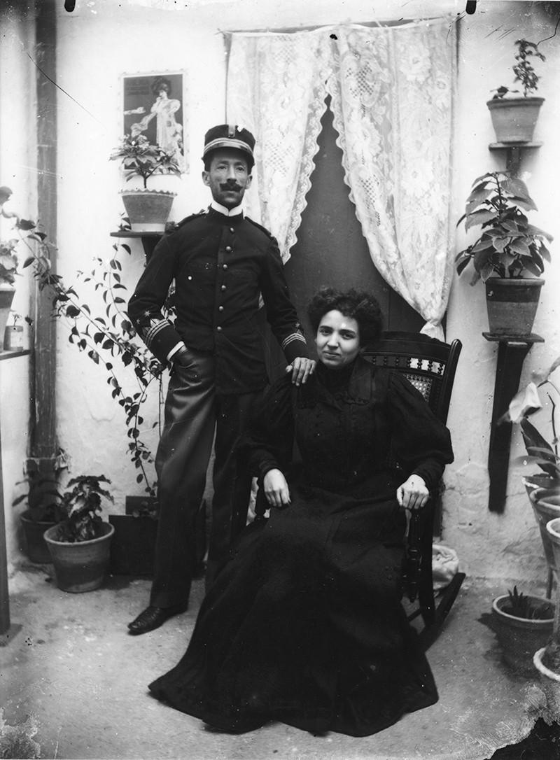 Militar y esposa