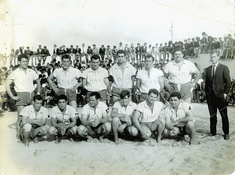 Heraclio Niz con el equipo de Haría