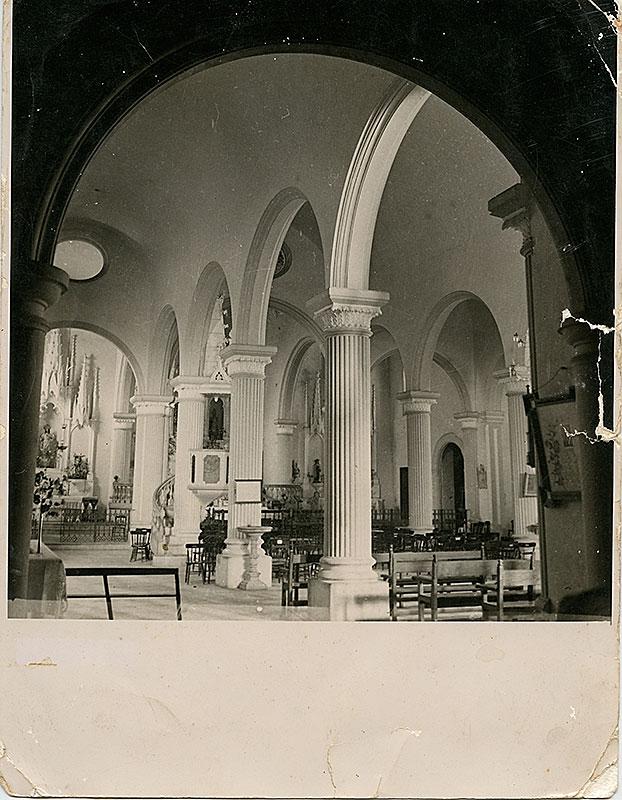Interior de la iglesia de Guadalupe