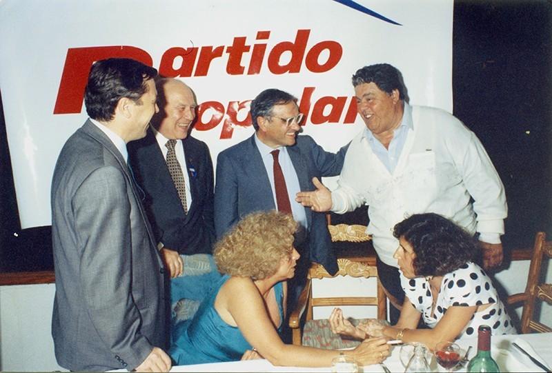Heraclio Niz en la sede del PP