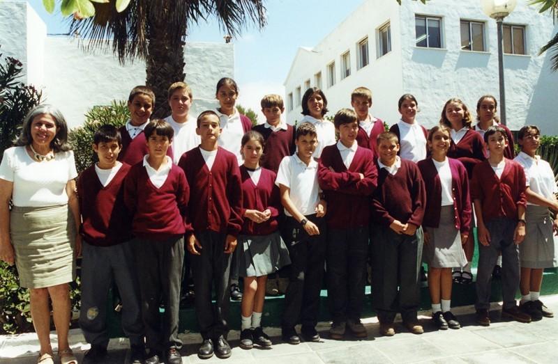 Una clase del colegio de San Bartolomé en 1998