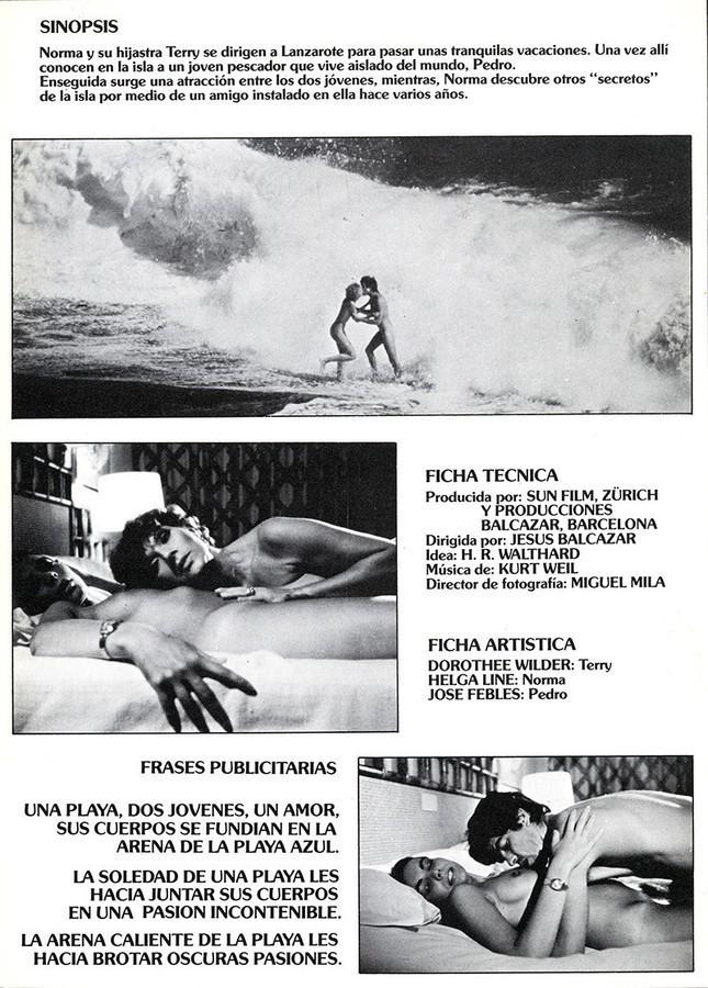 Guía publicitaria de la película Playa Azul II
