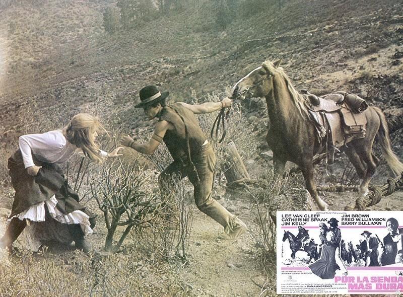 Fotocromo de la película Por la senda más dura X