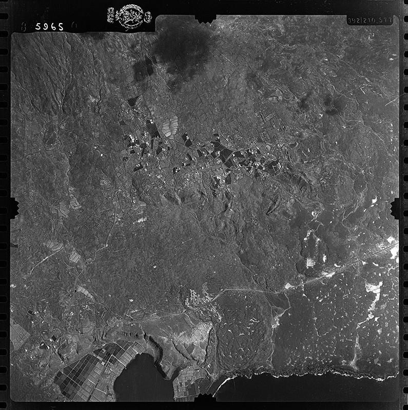 Fotografía aérea de Las Breñas y Janubio en 1954 I