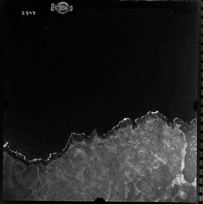 Fotografía aérea de la Vega de Mácher en 1955