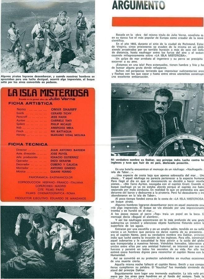 Guía publicitaria de La isla misteriosa II