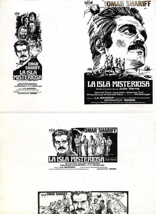 Guía publicitaria de La isla misteriosa IV