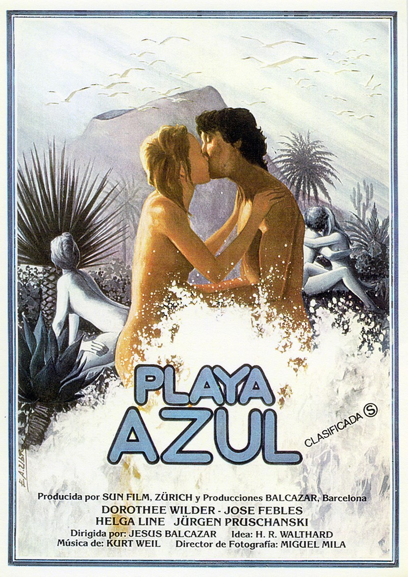 Cartel de Playa Azul