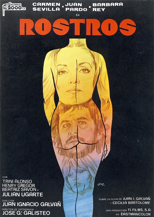 Guía publicitaria de la película Rostros I