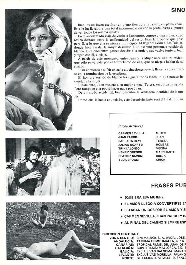 Guía publicitaria de la película Rostros II