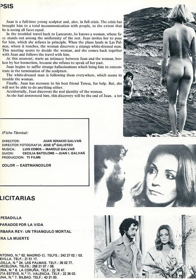 Guía publicitaria de la película Rostros III