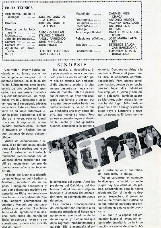 Guía publicitaria de la película Timanfaya II