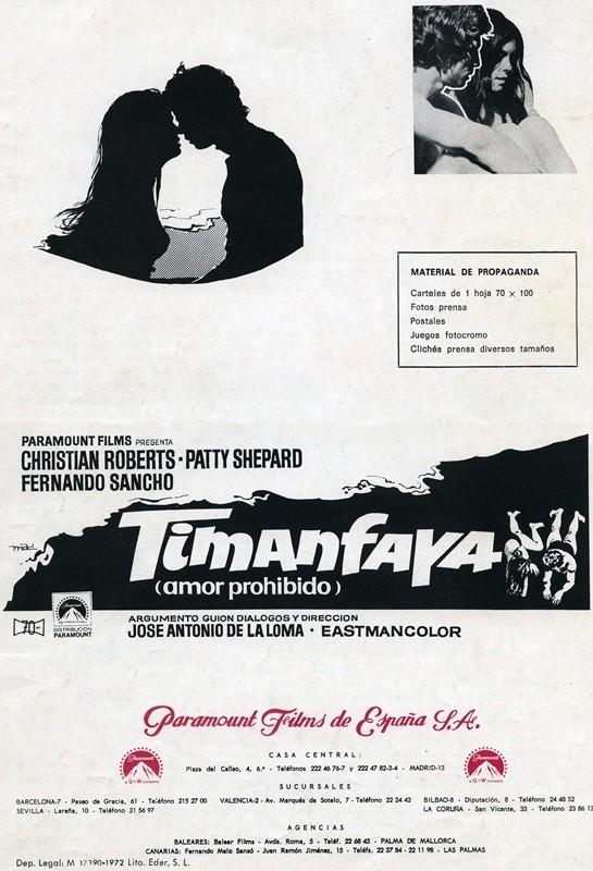 Guía publicitaria de la película Timanfaya IV