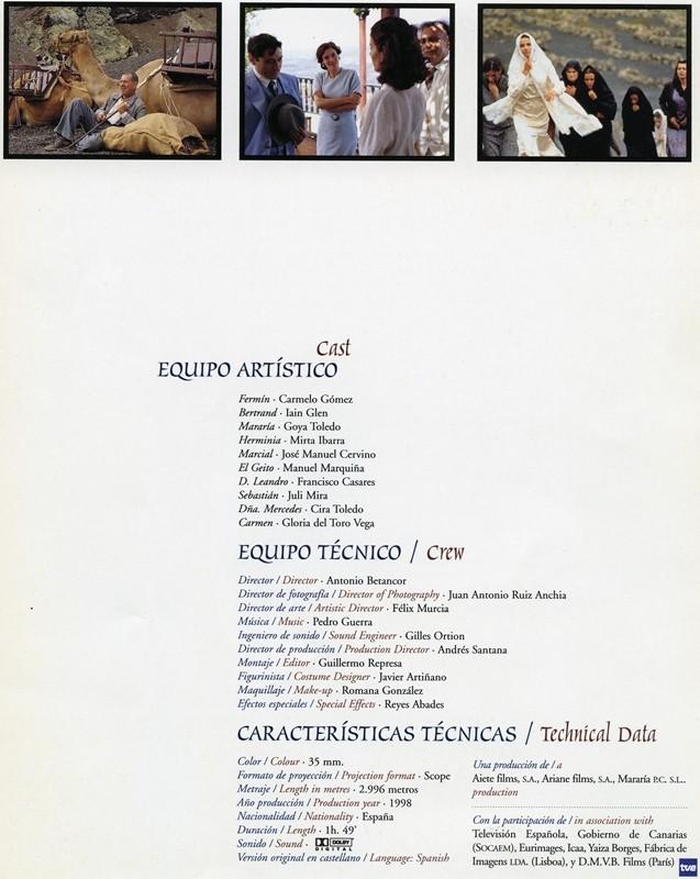 Guía publicitaria doble de Mararía VII