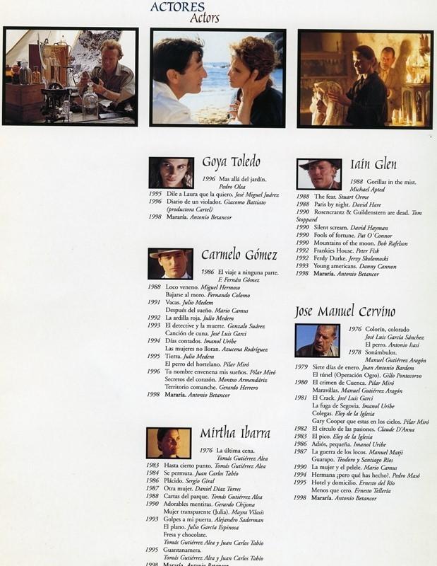 Guía publicitaria doble de Mararía VIII