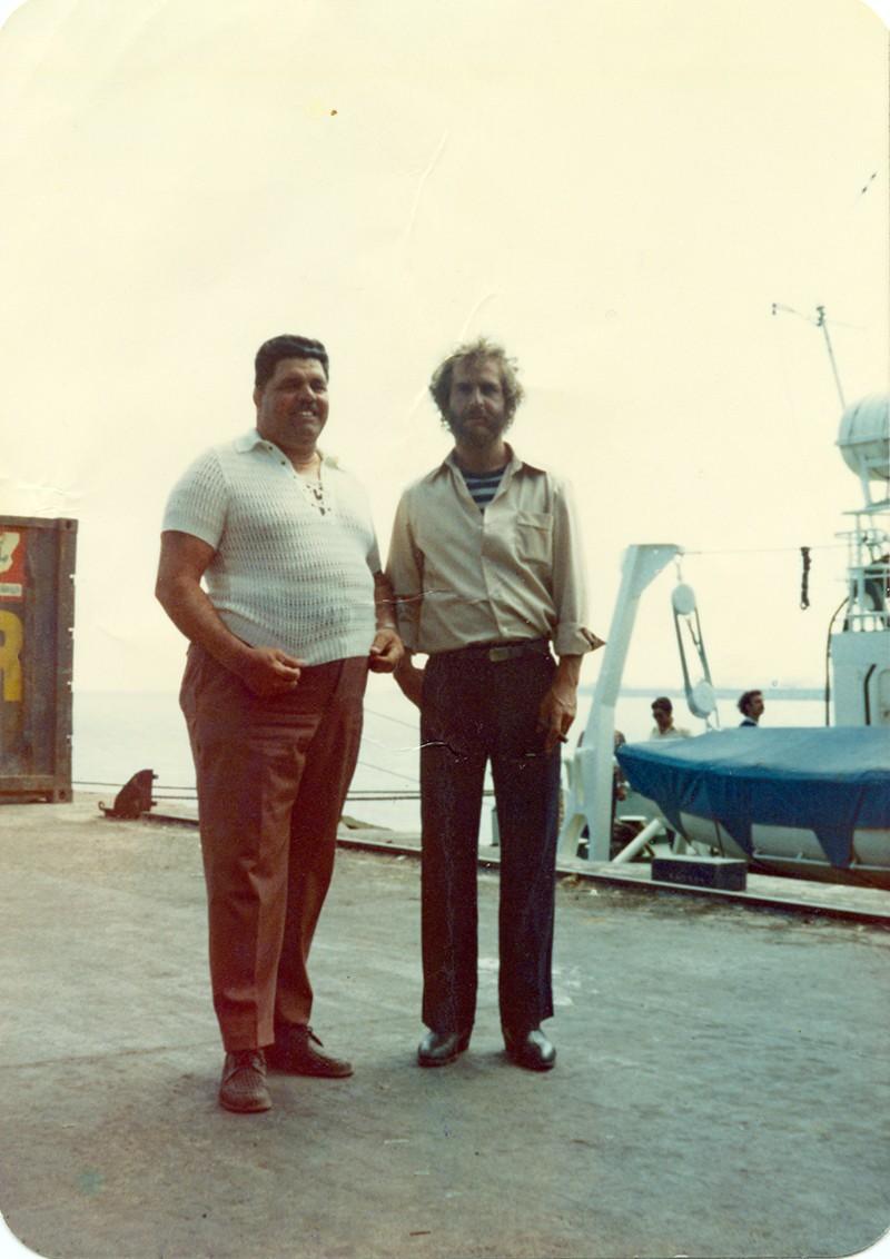 Heraclio Niz con Hugo Stiglitz