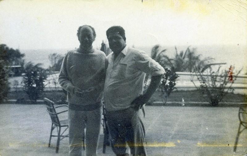 Heraclio Niz con Rex Harrison