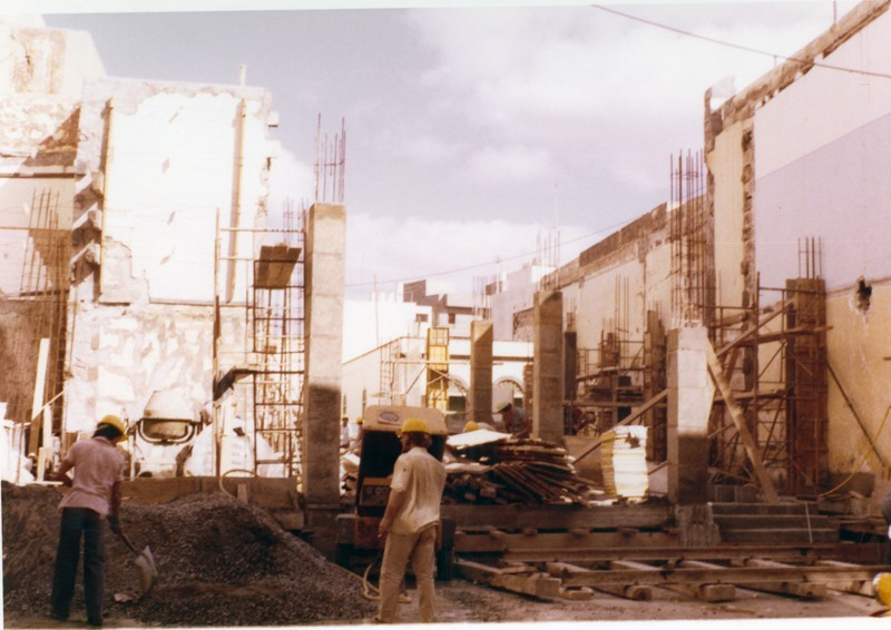 Construcción del edificio del Banco Santander I