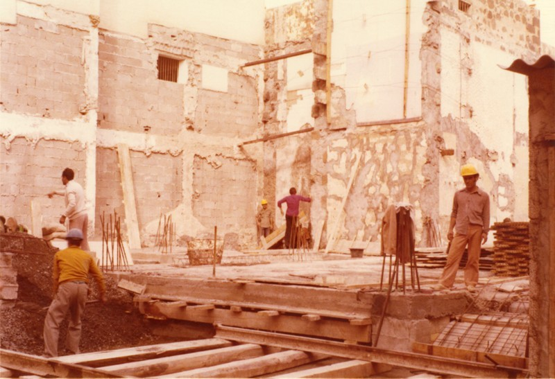 Construcción del edificio del Banco Santander IV