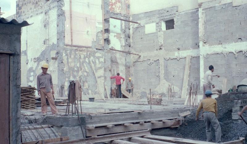 Construcción del edificio del Banco Santander VI