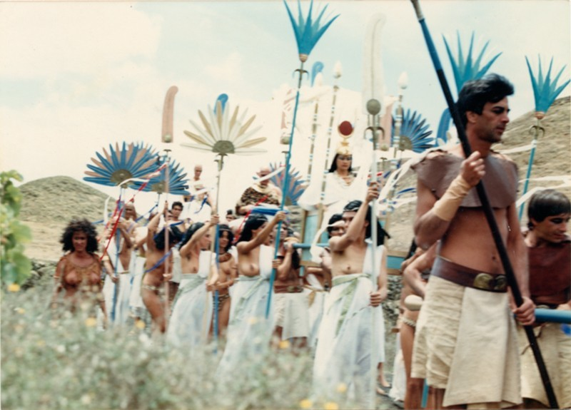Imagen del rodaje de Aida