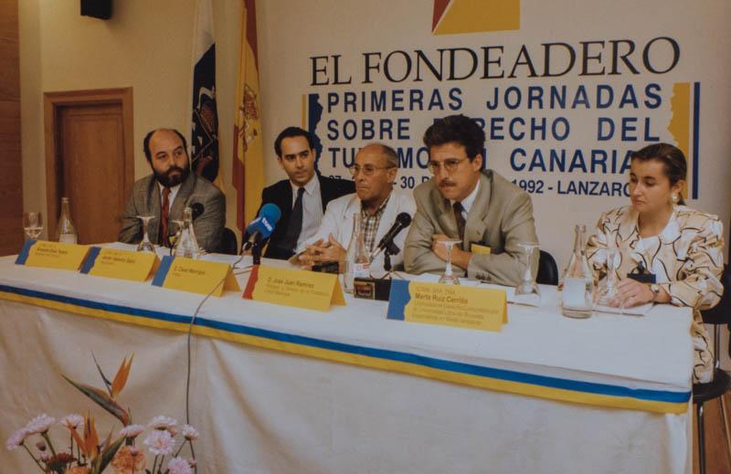 César Manrique en jornadas sobre Derecho del Turismo I