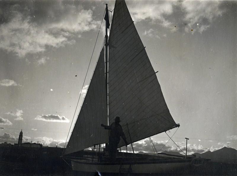 Barco a contraluz