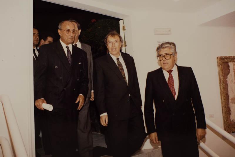 César Manrique con el Ministro de Cultura I