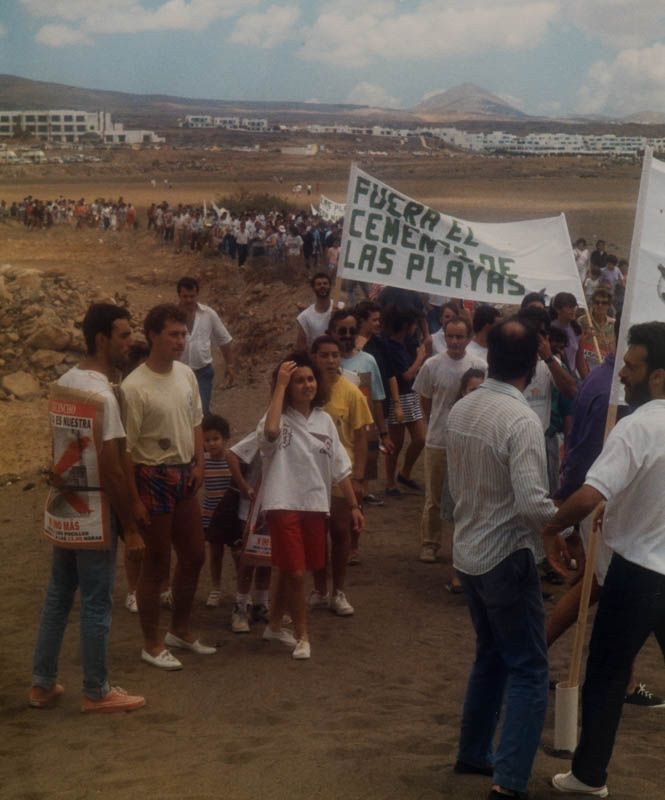Protestas en la playa de Los Pocillos