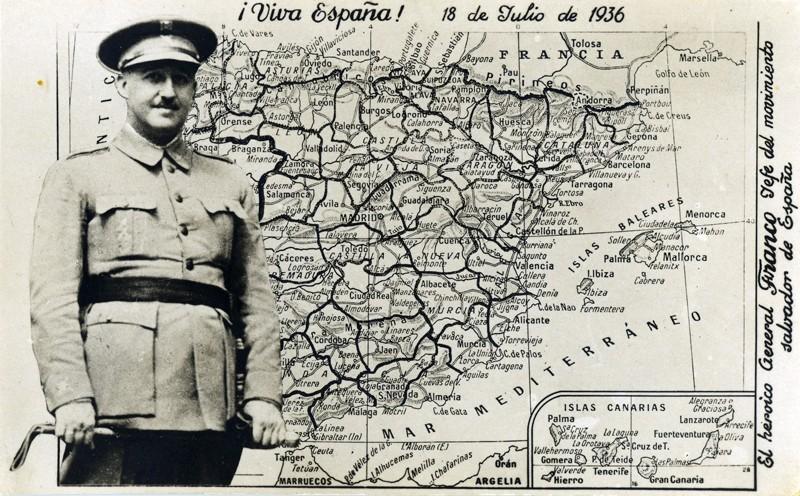 Tarjeta postal de Franco
