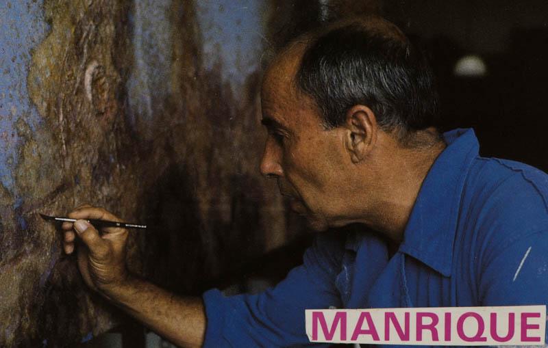 César Manrique pintando II