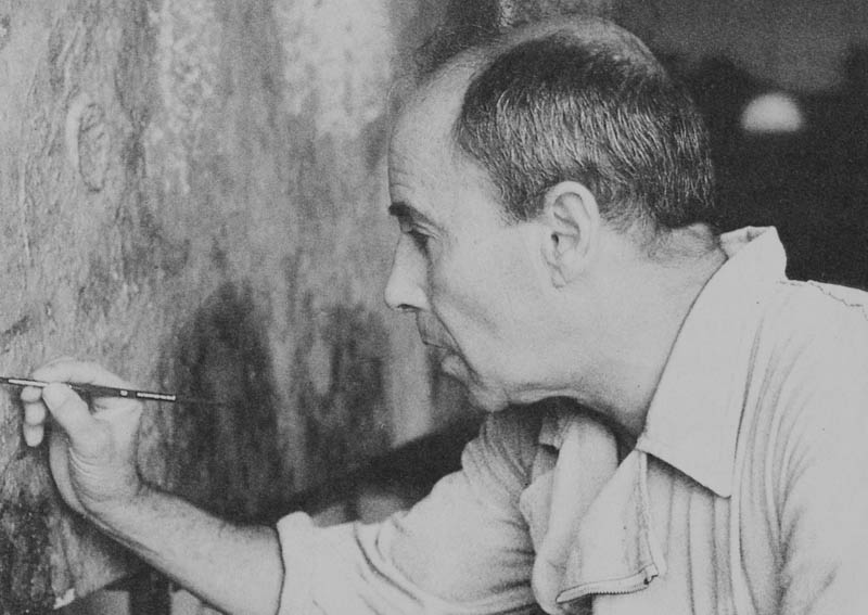 César Manrique pintando III