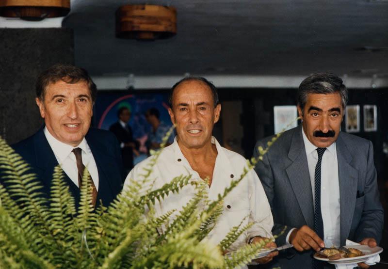 César Manrique en el restaurante del Castillo de San José I