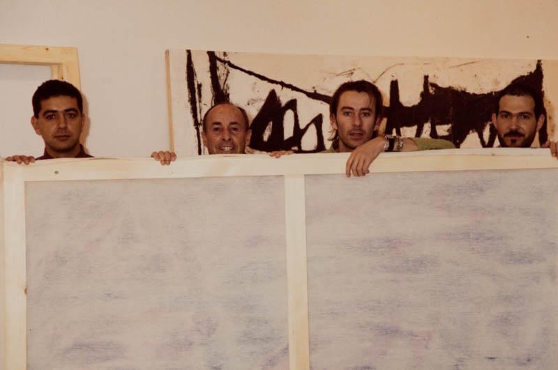César Manrique con pintores