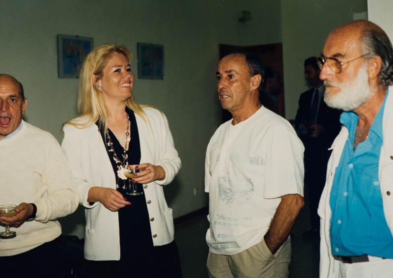 César Manrique en una exposición II