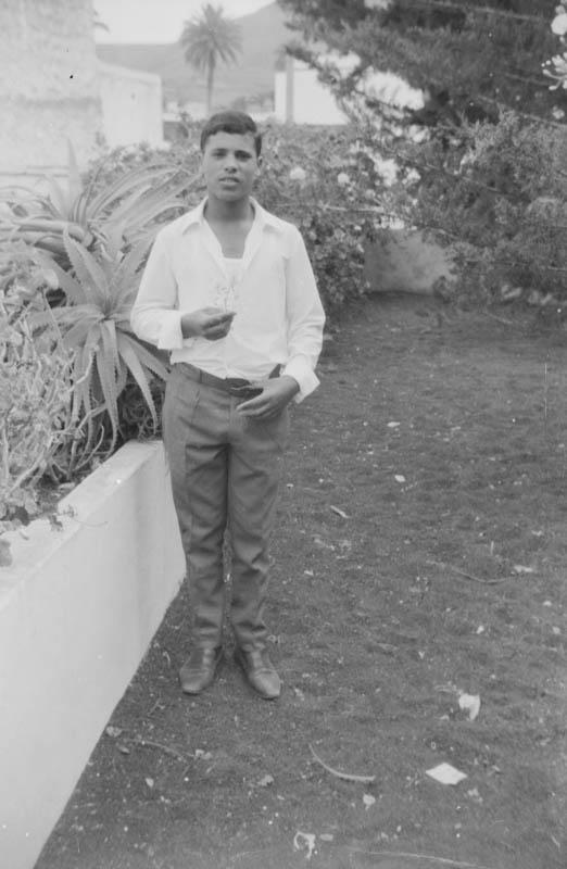 Basilio Pérez en Haría