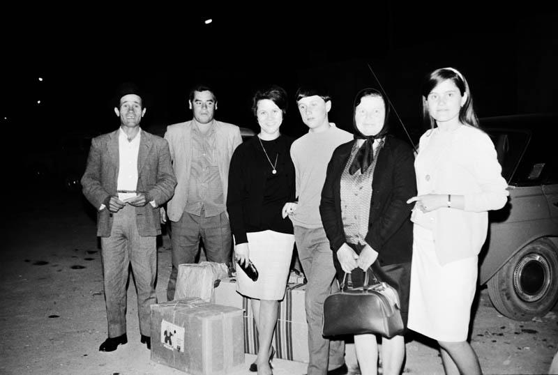 Familia con equipaje