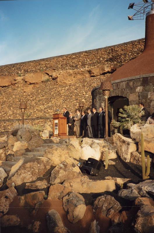 Acto de inauguración del Jardín de Cactus XI